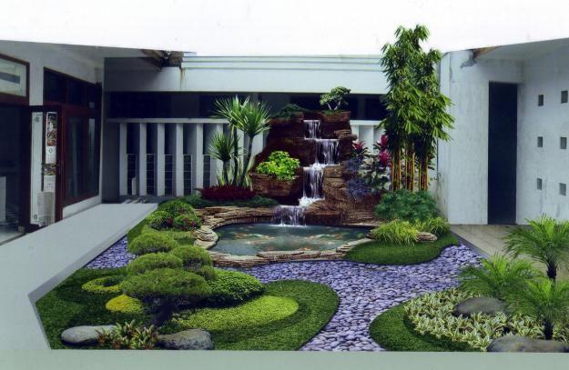 Rumah yang tanpa taman kelihatan kurang serasi dengan lingkungan, dan tentunya bila ada taman dapatlah sebagai lahan resapan air serta membuat rumah kita enak dipandang mata. Luas taman tentunya disesuaikan dengan halaman yang ada, tak harus besar, yang penting serasi dengan sekitarnya.
