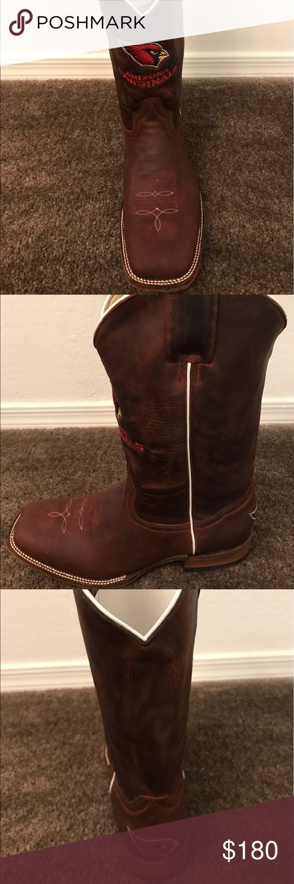 Arizona Cardinals NFL Boots Handcrafted old pro leather boots of the Arizona Cardinals. Shoes Cowboy & Western Boots