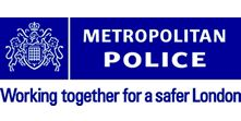 Metropolitan Police Service force crest-check number of monthly crimes in each area