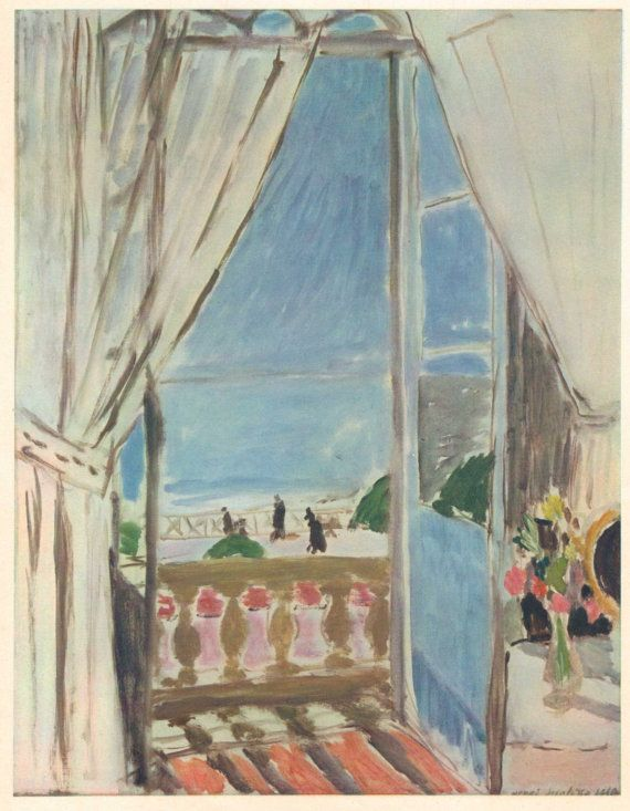 Vintage 1940s Matisse French Fine Art Print. Window in Nice, 1919. By French Artist Henri Matisse. Ready to Frame. (No. 279) via Etsy