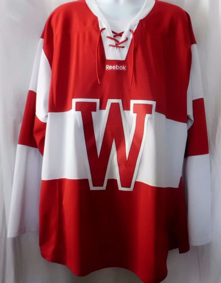 Men's Reebok Red/White Wisconsin Badgers Hockey Jersey Size 2XL #Reebok #Badgers
