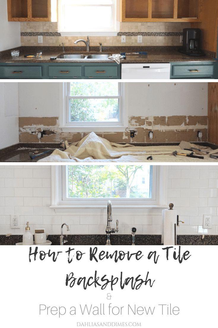 Removing A Tiled Backsplash Prepping
