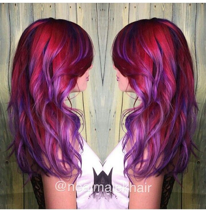 Red, Violet, Purple Mix Artic Fox Hair Dye
