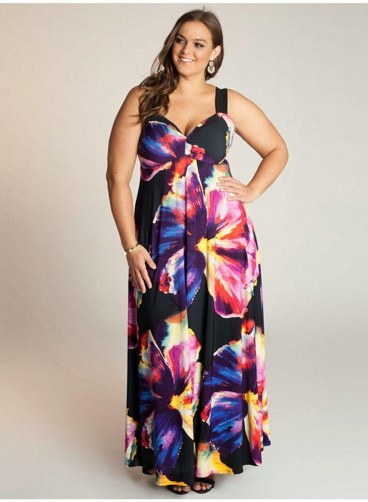 Modernos vestidos largos para gorditas | Vestidos para gorditas de temporada
