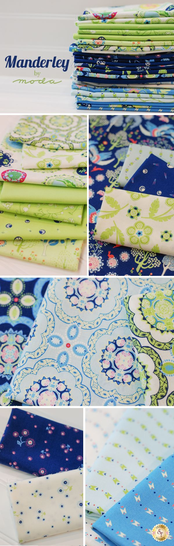 Manderley is a whimsical collection by Franny & Jane for Moda Fabrics available at Shabby Fabrics