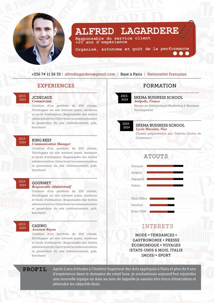 CV Original Journaliste Modèle cv