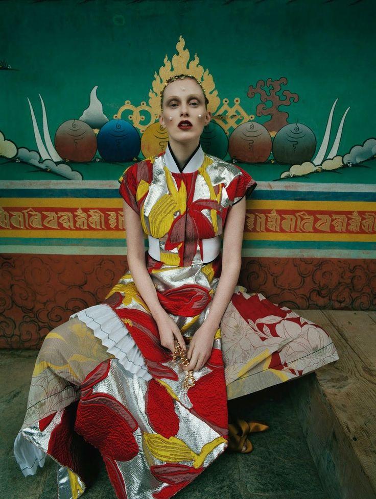 Model, Musician @  Karen Elson by Tim Walker for Vogue UK May 2015