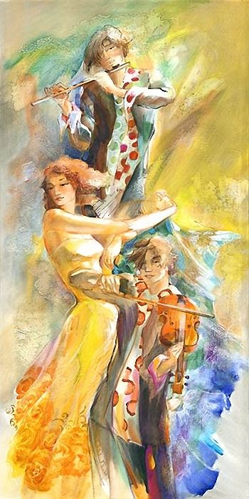 By Lena Sotskova...Music and art #Painting www.songdew.com