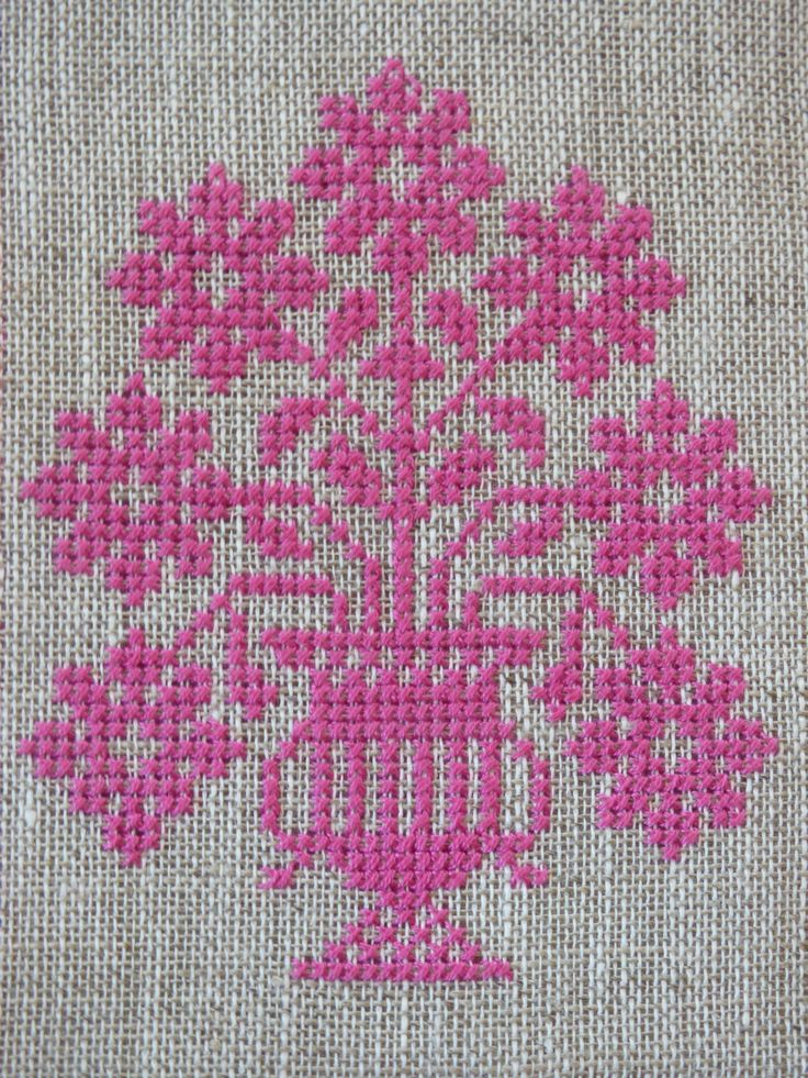 Posy of Flowers Cross Stitch Pattern | Felt