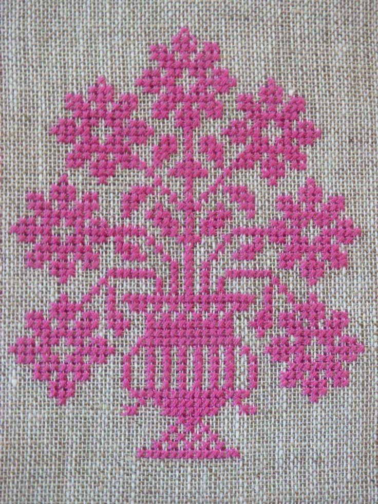 Posy of Flowers Cross Stitch Pattern | Felt
