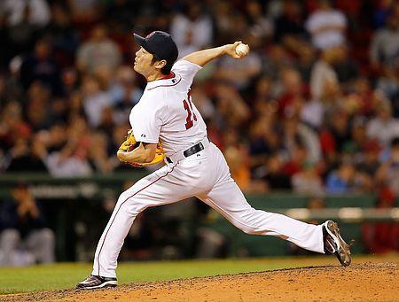 タイガース戦の9回、力投するレッドソックスの上原=17日、ボストン(AFP=時事) ▼18May2014時事通信 上原、調整登板で収穫=米大リーグ・レッドソックス http://www.jiji.com/jc/zc?k=201405/2014051800058 #Koji_Uehara #Boston_Red_Sox