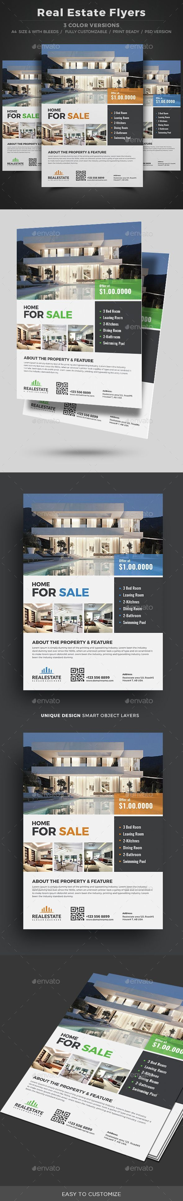 Real Estate Template%0A Real Estate Flyer Template PSD  realestatebranding