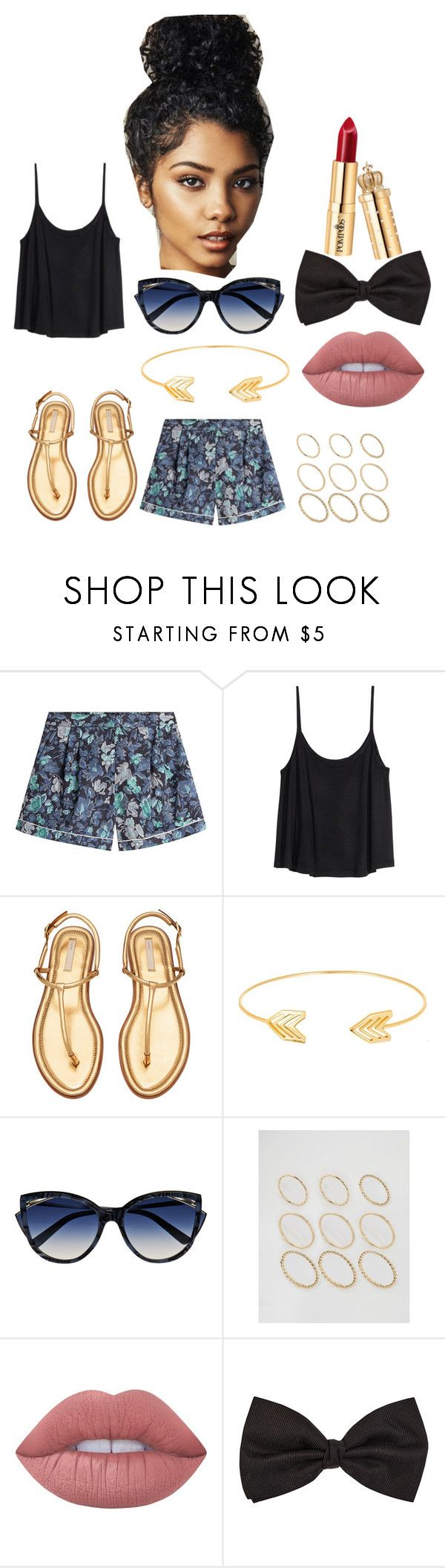 """""""Untitled #270"""" by diamondinthesky13 on Polyvore featuring Burberry, H&M, Lord & Taylor, La Perla, ASOS, Lime Crime and Barneys New York"""