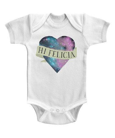 Look what I found on #zulily! White 'Hi Felicia' Heart Bodysuit #zulilyfinds