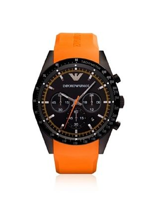 Emporio Armani Men's AR5987 Orange/Black Rubber Watch