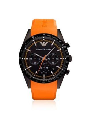 Emporio Armani Men's AR5987 Orange/Black Rubber Watch