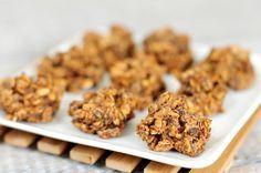Gezonde snack   chocolade haver koekjes zonder suiker