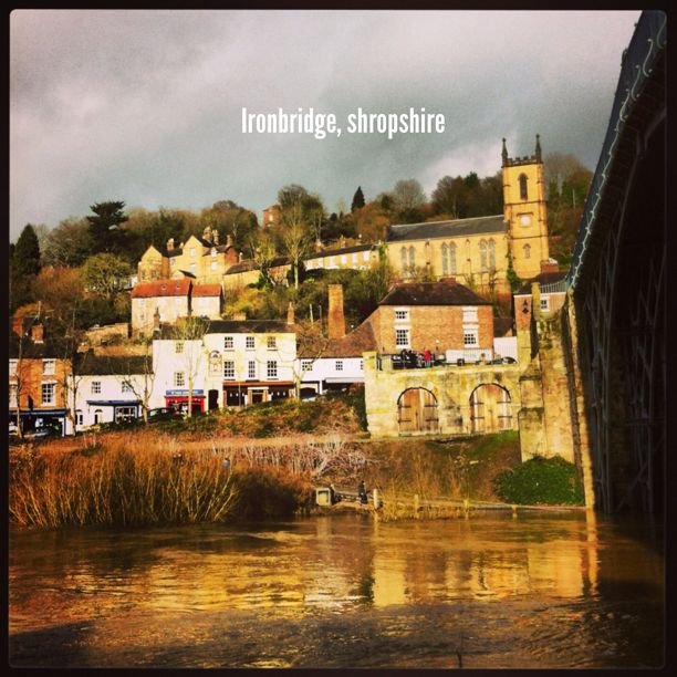 Ironbridge with fast running River Severn