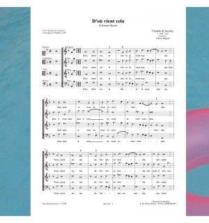 Claudin de SERMISY / Clément MAROT : D'où vient cela - chanson de la Renaissance 4 voix mixtes (SATB) - Editions Musiques en Flandres - référence : MeF 407