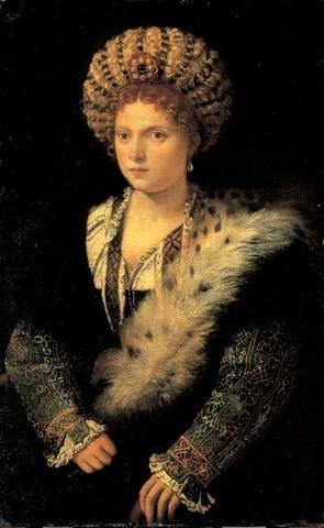 Portrait d`Isabella d`Este | Titien Portrait d'Isabella d'Este, 1534-36, huile sur toile, 102 x ...