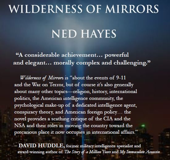 David Huddle endorsement -- Wilderness of Mirrors is the forthcoming SFF novel, which echoes and expands themes begun by Tim Powers, William Gibson and Neal Stephenson http://wildernessofmirrors.net
