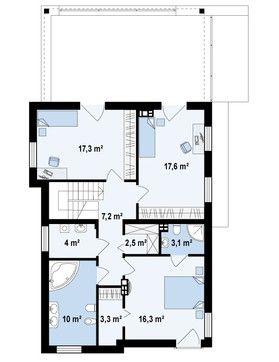 Двухэтажный коттедж с гаражом в стиле модерн | DOM4M в Беларуси | Компания ДОМ4М Беларусь