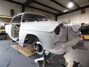 1955 Chevrolet Bel Air - Final mock up of the fenders and core support.