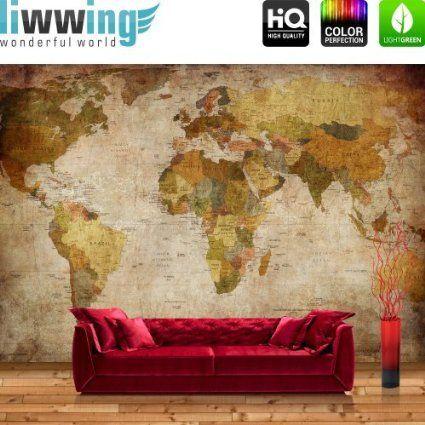 17 best ideas about fototapete weltkarte on pinterest. Black Bedroom Furniture Sets. Home Design Ideas