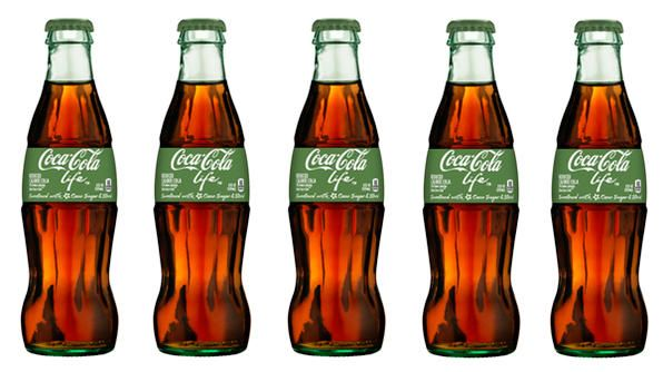 Coca-Cola Life is Coke's latest drink. Sweetened with stevia and cane-sugar, it reduces the calories per can  by 30%.