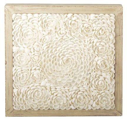 shell art from joss and main - use pistachio shells?