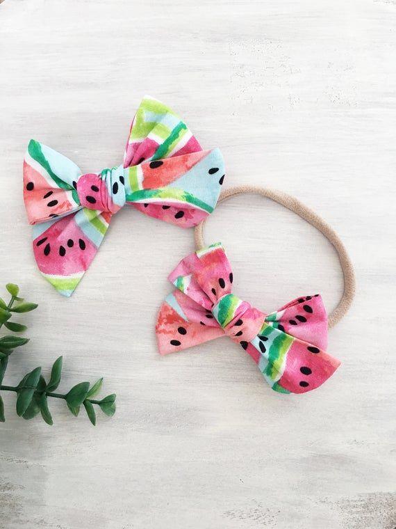 toddler headband watermelon hair bow summer baby bow baby bows summer headband toddler hair bow baby headband watermelon baby bow