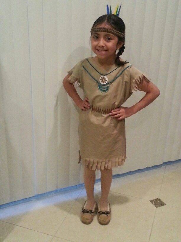 Native American dress out of Pillowcase.  No sew Indian dress.  Thanksgiving. Costume. Diy. Children's dress up. Kids.