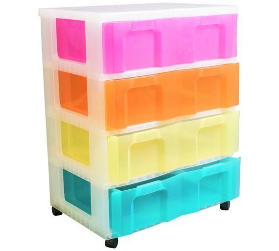 Buy Really Useful 4 x 30L Tower Unit - Multicoloured at Argos.co.uk - Your Online Shop for Plastic storage boxes and units, Storage, Home and garden.
