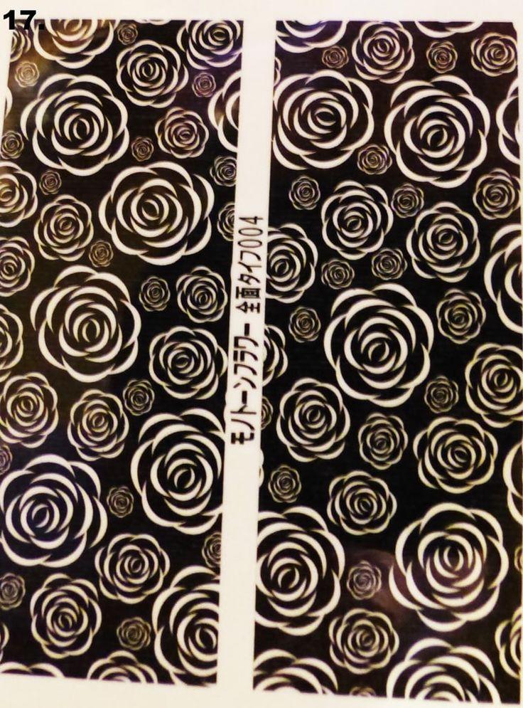 Siirtokuva-arkki (23 erilaista) 1,40€/arkki www.berylli.fi #ruusu #siirtokuva #water #decal #decals #kynnet #kynsikoristelu #nail #art #nails #romanttinen #romantic #rose #vintage #kauneus #black #white