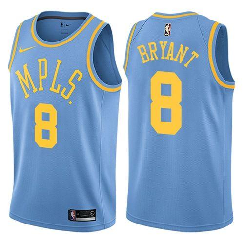 more photos cd2bb b7a2d Nike Lakers #8 Kobe Bryant Royal Blue NBA Swingman Hardwood ...