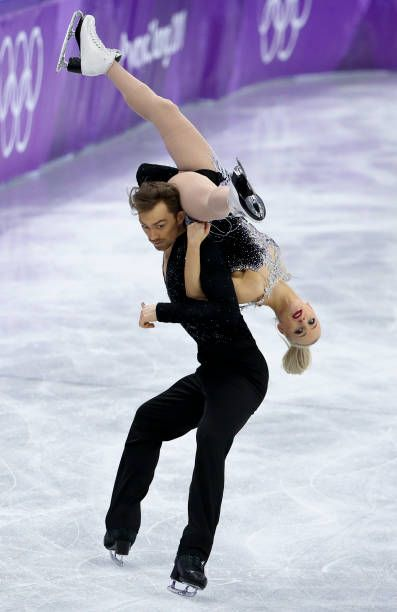 Penny Coomes and Nicholas Buckland of Great Britain during the Figure Skating Ice Dance Short Dance program on day ten of the PyeongChang 2018 Winter...