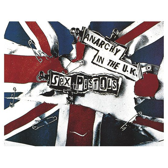 Anarchy in the uk sex pistols punk rock shirts stickers posters