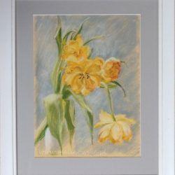 Żółte tulipany- pastel