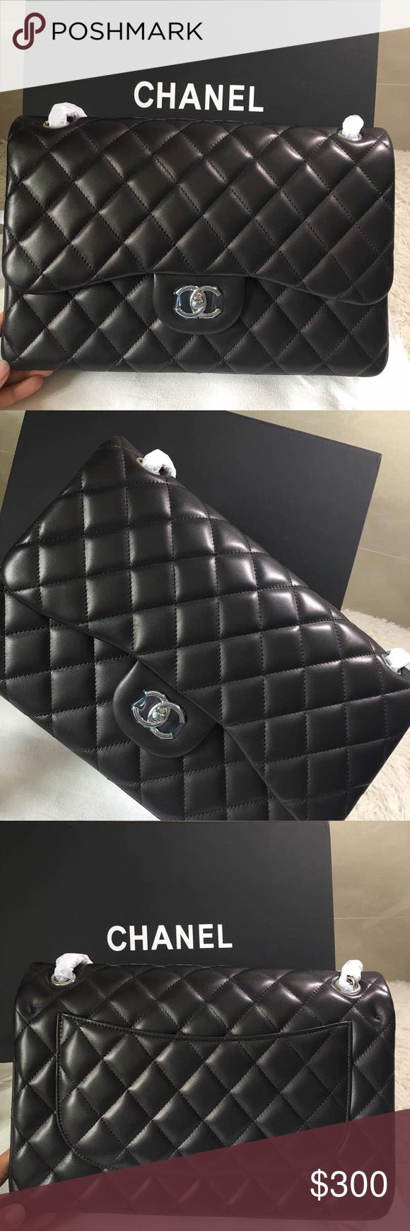 Chanel jumbo flap bag BRAND NEW  COME WITH DUST BAG BOX AND AUTHENTICITY CARD  REAL LEATHER  NOT AUTHENTIIIIIIIIC  ONLY SOLD OFF OF PM FOR SERIOUS INQUIRIES OR PURCHASE  CONTACT ME  luxurybaggal202@gmail.com CHANEL Bags