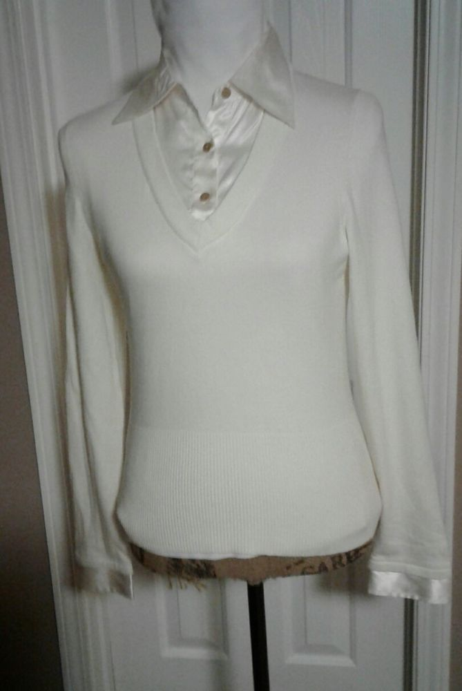 The Limited Long Sleeved Pullover Sweater Ivory Sz S Ladies   | eBay