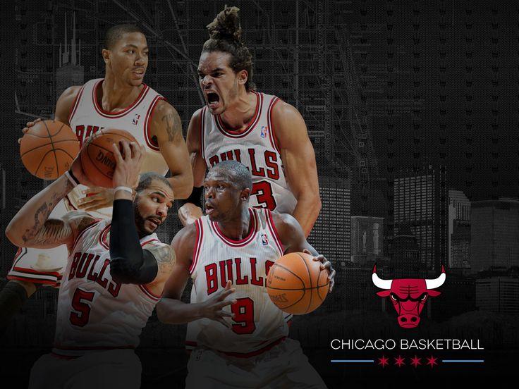 Derrick Rose, Joakim Noah, Carlos Boozer, Luol Deng 2012-13 Chicago Bulls Wallpaper