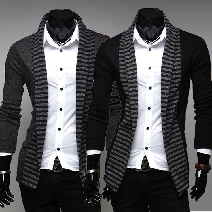 new arrived,Fashion fringe color men's casual Long Knit Cardigan,2 color 4 size