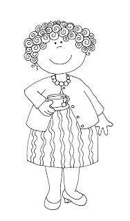 Free Dearie Dolls Digi Stamps: Grandma's Tea Time