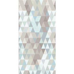 Papier peint intissé losange bleu de gris