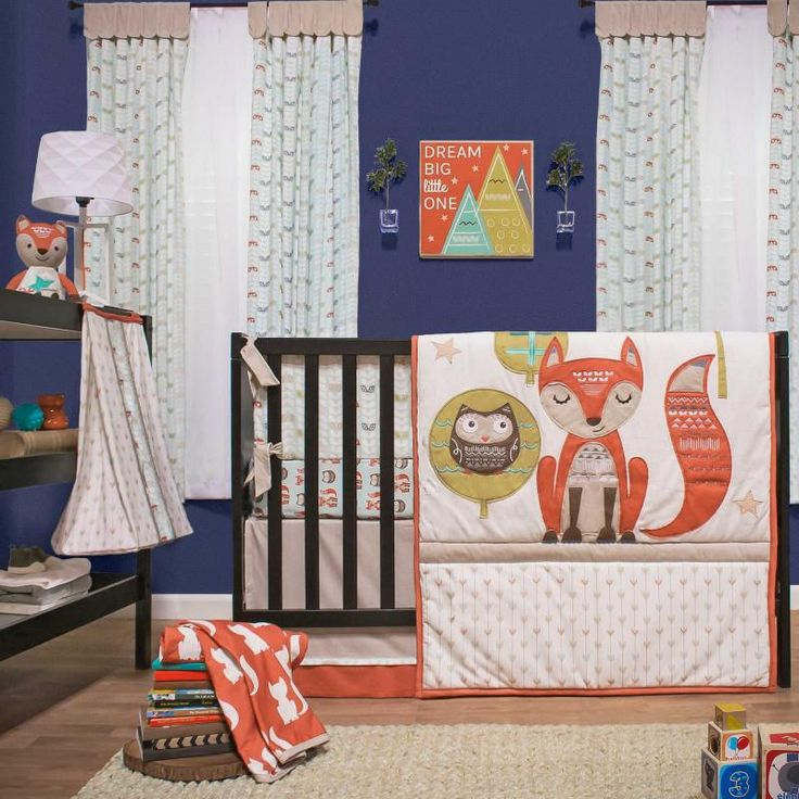 Clever Fox 5 Piece Baby Crib Bedding Set With Bumper By
