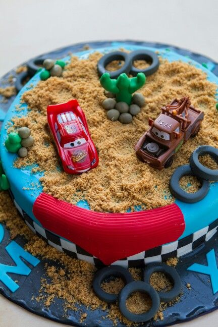 #McQueen #Birthday #Cake #Chocolate with #Cookies