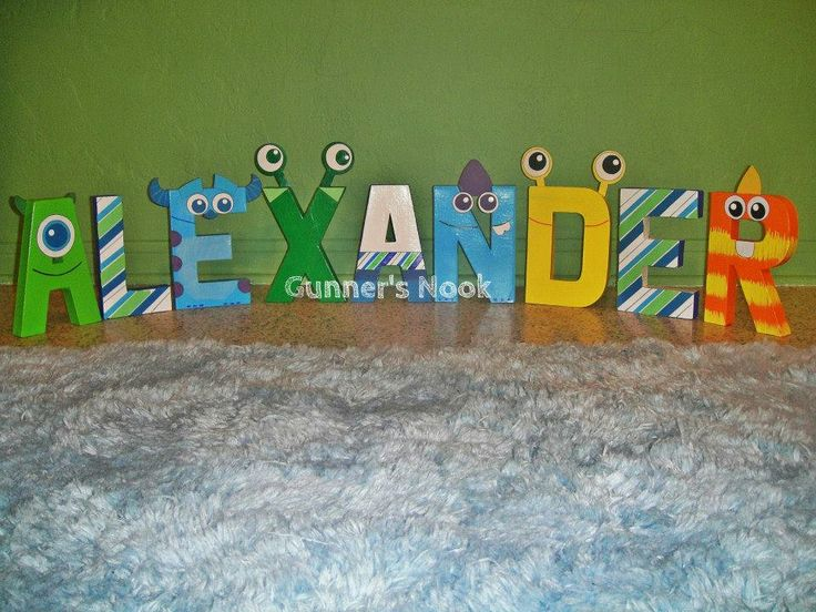 Monsters Inc. Character Letter Art by GunnersNook on Etsy, $12.00