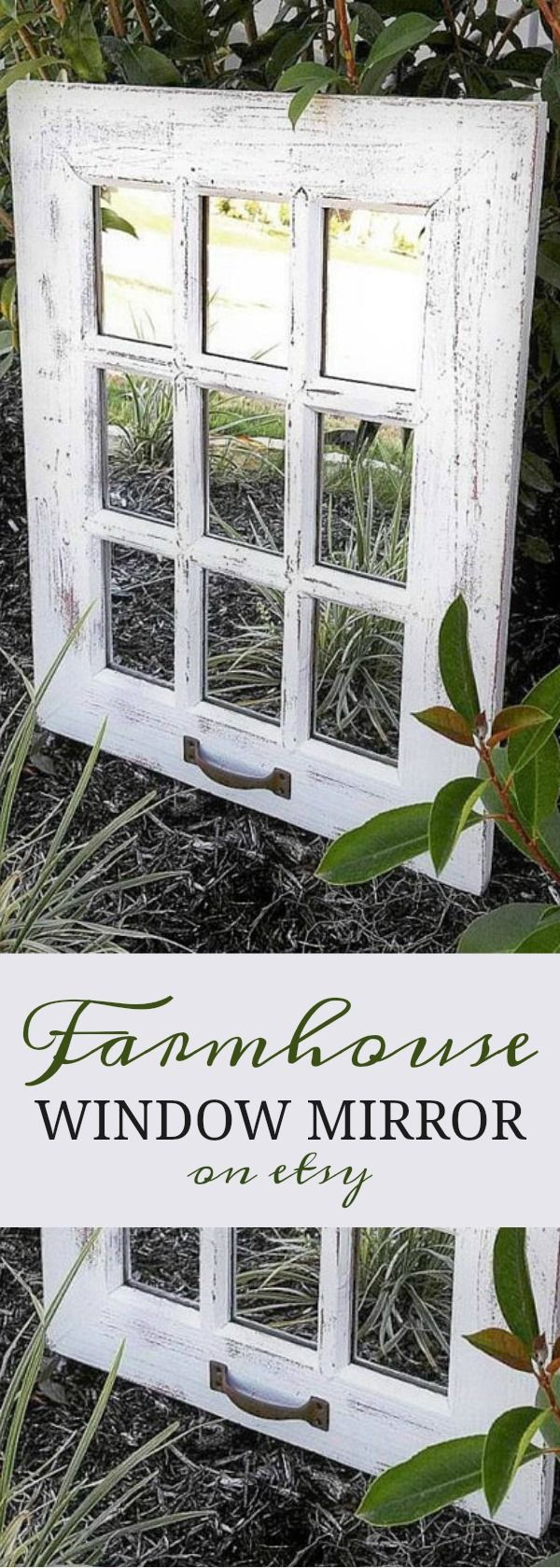What a gorgeous piece! This rustic mirror is perfect for anyone who's looking compliment that farmhouse or rustic theme. Each replica window frame is completed with a distressed finish; although, you do have the option of choosing a solid finish. This mir