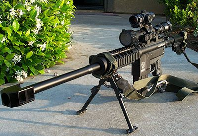 Barrett .50 cal. sniper rifle....reach out and touch someone!
