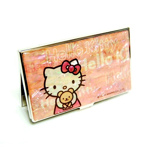 54 best for the love of hello kitty images on pinterest hello mother of pearl hello kitty teddy bear design metal business credit name card holder money wallet reheart